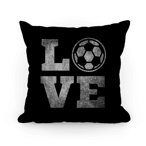 Love Soccer Pillow Pillow