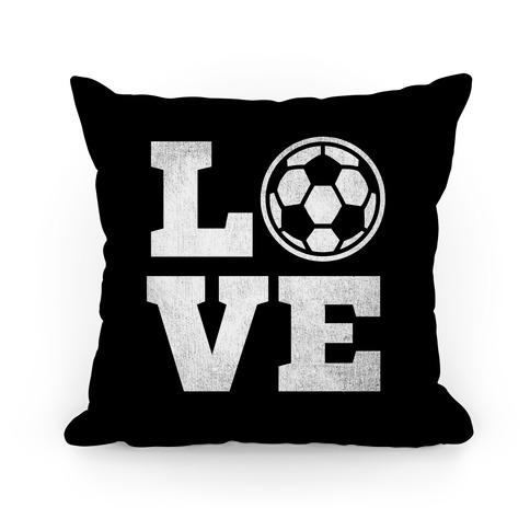 Love Soccer Pillow