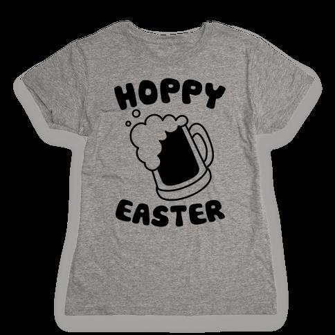 Hoppy Easter Womens T-Shirt