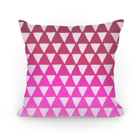 Triangle Pink Ombre Pattern Pillow