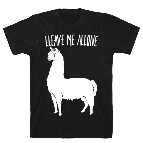 Leave Me Alone Llama Mens T-Shirt