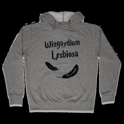 Wingaydium Lesbiosa Hooded Sweatshirt