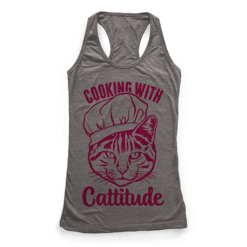 Cooking With Cattitude Racerback Tank Top