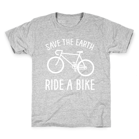 Save The Earth Ride A Bike Kids T-Shirt