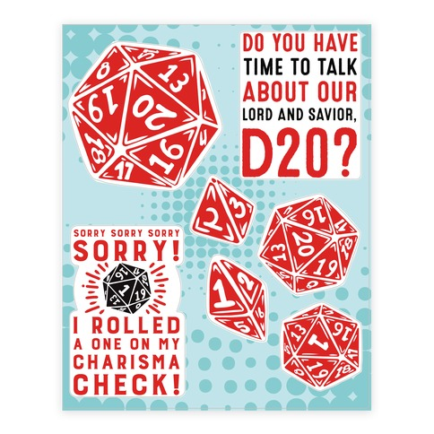 D20 Sticker and Decal Sheet