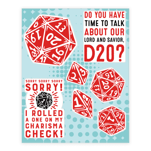 D20  Sticker/Decal Sheet