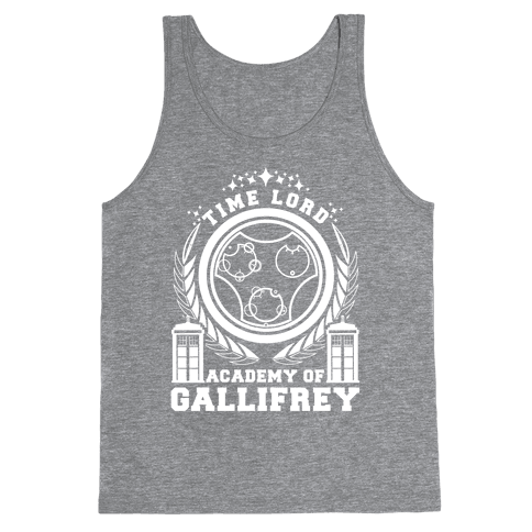 Time Lord Academy of Gallifrey Tank Top