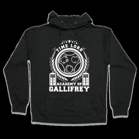 Time Lord Academy of Gallifrey Hooded Sweatshirt