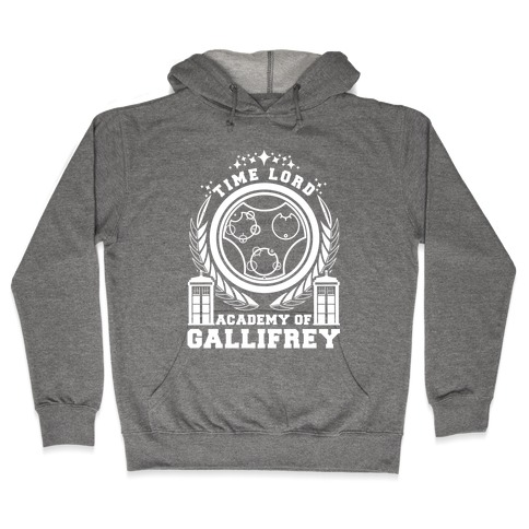 Time Lord Academy of Gallifrey Hooded Sweatshirt