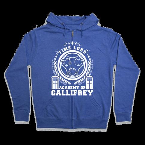 Time Lord Academy of Gallifrey Zip Hoodie