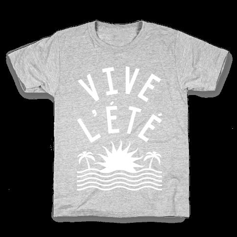 Vive L'Ete Kids T-Shirt