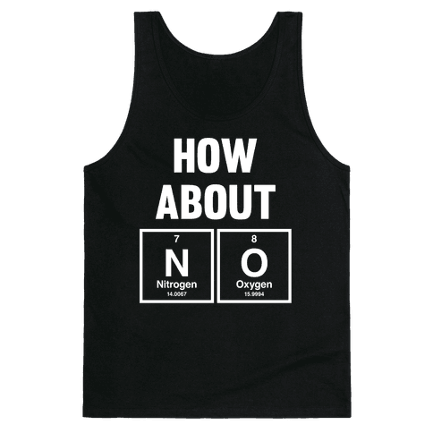 How About No (Chemistry) (White Ink) Tank Top