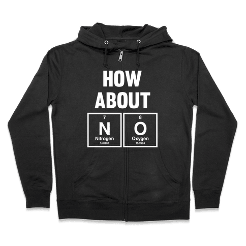 How About No (Chemistry) (White Ink) Zip Hoodie