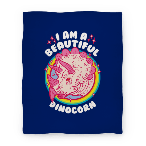 I Am A Beautiful Dinocorn Blanket