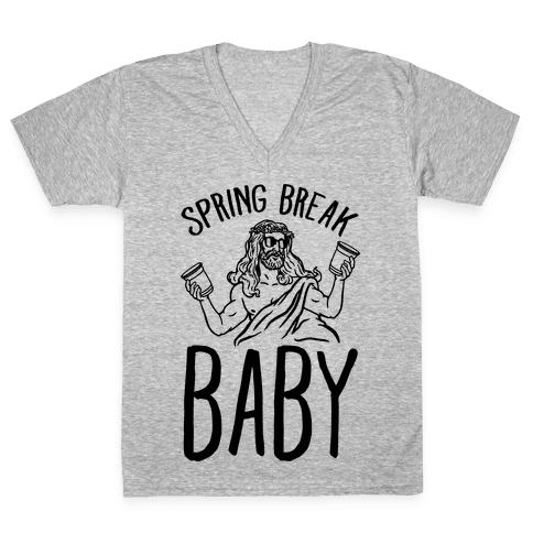 Spring Break Baby V-Neck Tee Shirt