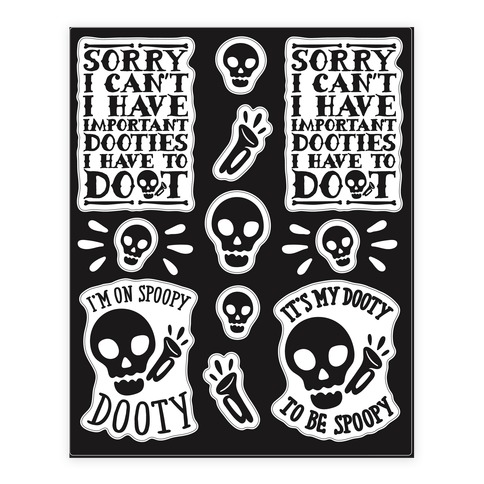 Spoopy Dooty Mr. Skeltal Sticker and Decal Sheet