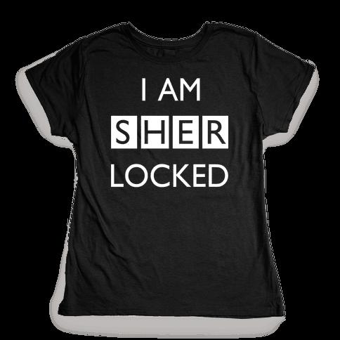 I am Sherlocked Womens T-Shirt