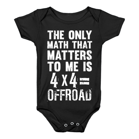 4 X 4 = Offroad! (The Only Math That Matters) Baby Onesy