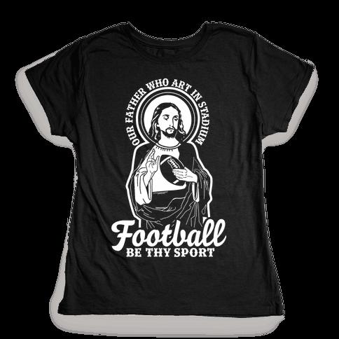 Football Jesus Womens T-Shirt