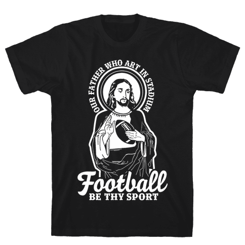 Football Jesus Mens T-Shirt