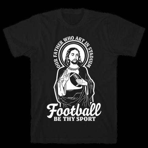 Football Jesus Mens T-Shirt
