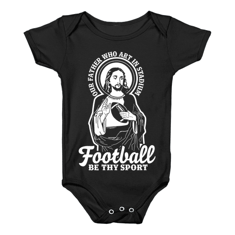 Football Jesus Baby Onesy