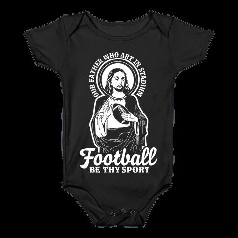 Football Jesus Baby Onesy