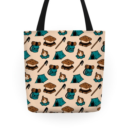 Camping Pattern Tote