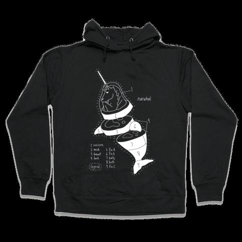 Narwhal Diagram Hooded Sweatshirt