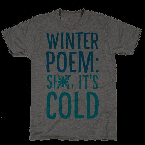 Winter Poem: Sh-T It's Cold!