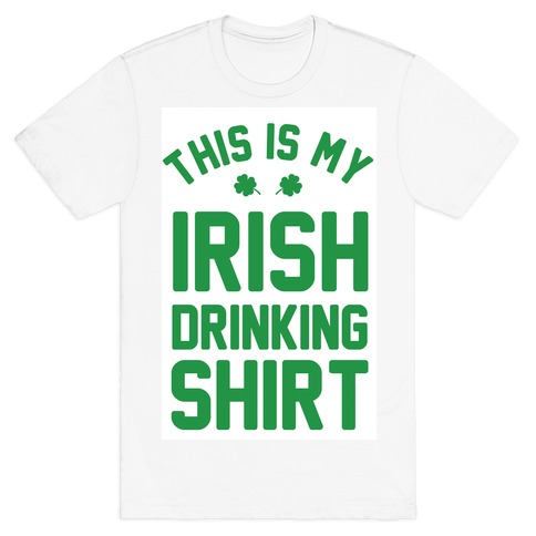 This Is My Irish Drinking Shirt Mens T-Shirt
