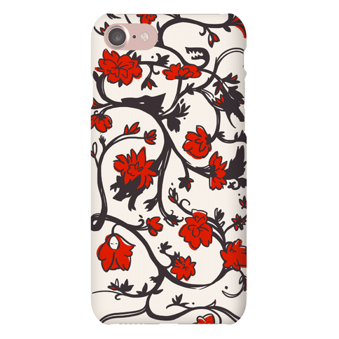 Little Red Riding Hood & Wolf Floral Pattern Phone Case