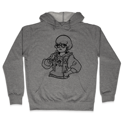 Punk Rock Parody Velma Hooded Sweatshirt