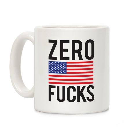 Zero F***s America Coffee Mug