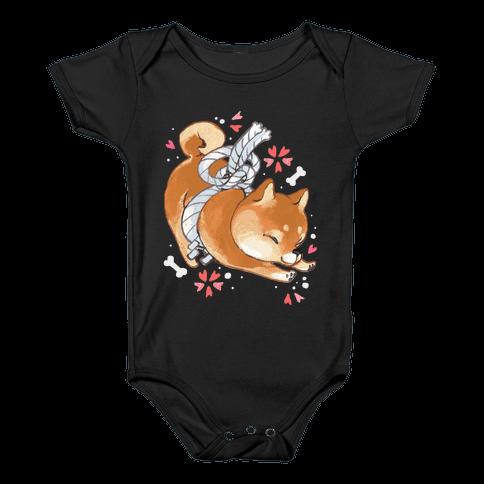 Shiba Inu Dog Baby Onesy