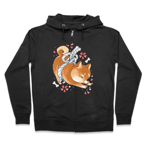Shiba Inu Dog Zip Hoodie