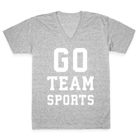 Go Team Sports V-Neck Tee Shirt