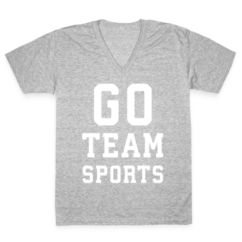 Go Team Sports V-Neck Tee Shirt