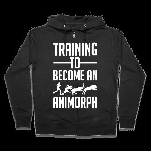 Training To Become An Animorph Zip Hoodie