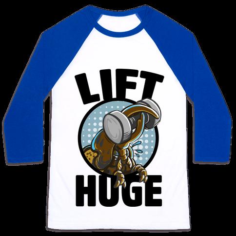 Lift Huge (Hercules Beetle) Baseball Tee