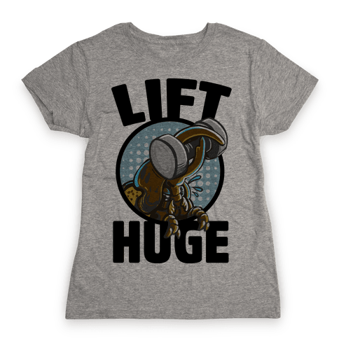 Lift Huge (Hercules Beetle) Womens T-Shirt