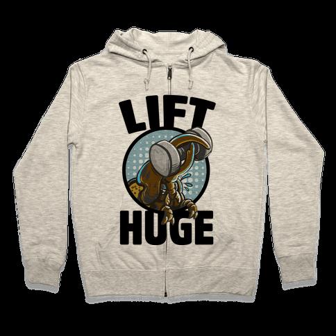 Lift Huge (Hercules Beetle) Zip Hoodie