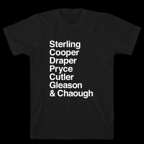 Mad Men Alphabet Mens T-Shirt