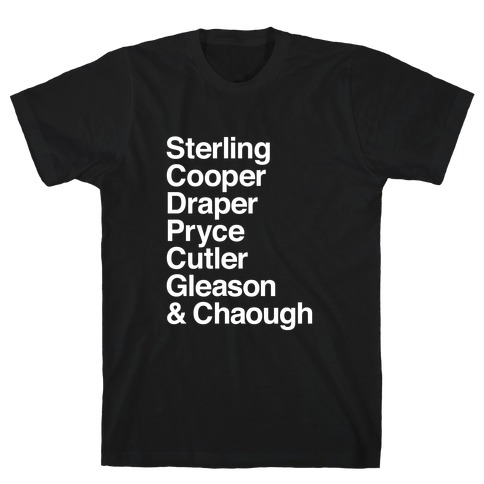 Mad Men Alphabet Mens T-Shirt