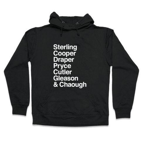 Mad Men Alphabet Hooded Sweatshirt