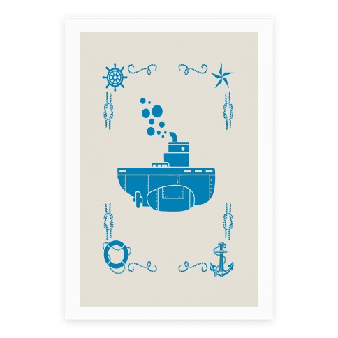 Nautical Submarine Poster