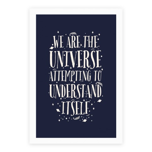 We Are The Universe Attempting to Understand Itself Poster