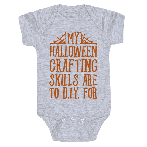 My Halloween Crafting Skills Are To D.I.Y. For Baby Onesy