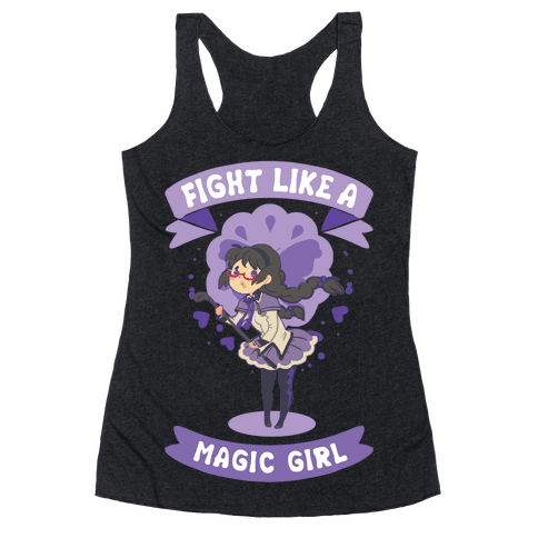 Fight Like A Magic Girl Homura Parody Racerback Tank Top