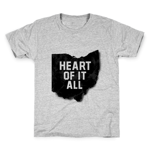 Ohio-Heart of it all Kids T-Shirt